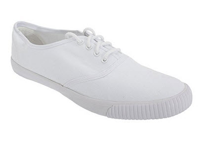 Dek Adults Unisex Lace White Canvas Plimsolls