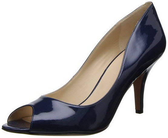 Womens navy blue dress shoes - b