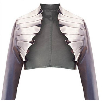 Berry Women's Ruffled Satin Bolero Jacket
