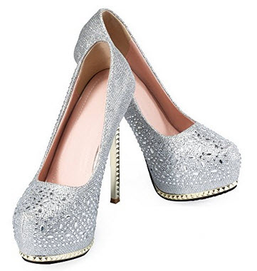 Big Tree Women's Pumps wedding shoes sexy high heels platform rhinestone woman sandals