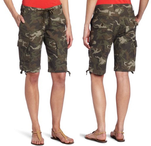 Womens Camo Cargo Shorts Foregather Net