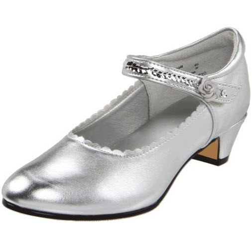 Kids Silver Dress Shoes Foregather