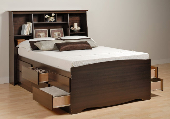 Queen Size Bed With Drawers Underneath Foregather Net