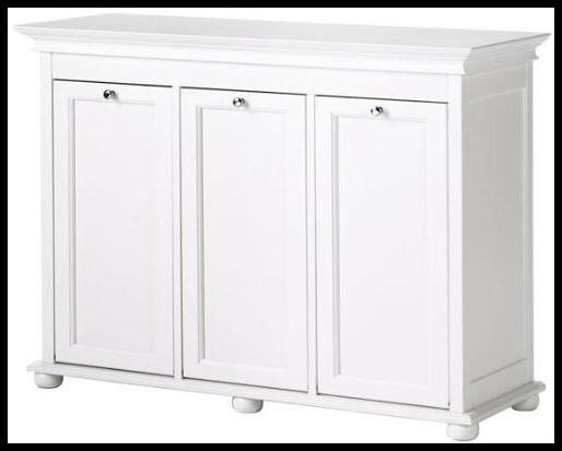 Triple tilt out laundry hamper - Linen cabinet with laundry hamper ...