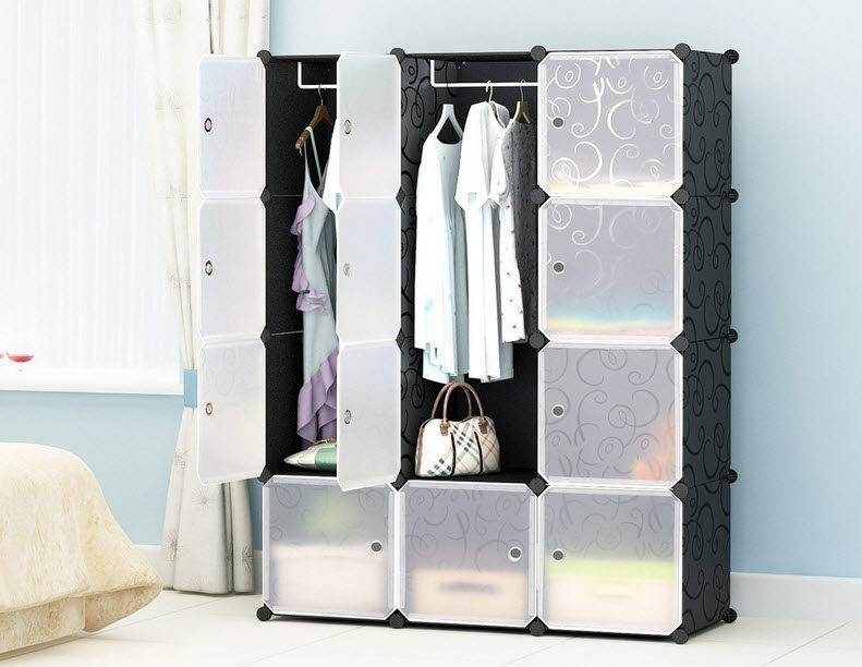 Portable Clothes Closet Wardrobe by Cosyhome-Freestanding Storage Organizer with doors