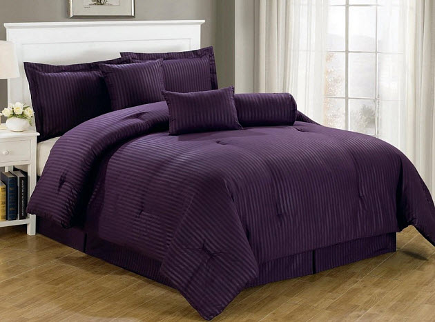 Dark purple comforter sets queen - 2
