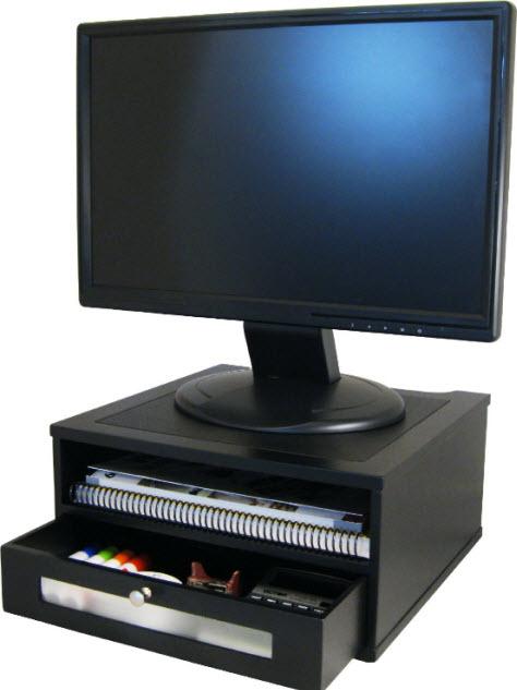 wood monitor riser