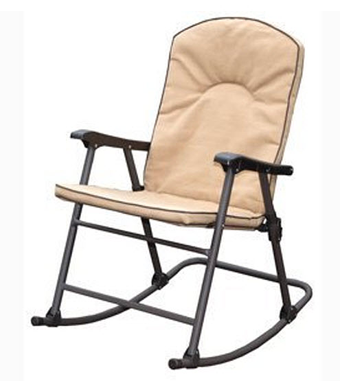 Cushioned outdoor folding rocking chair - b