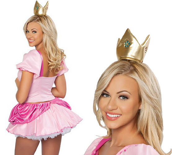 sexy princess peach halloween costume